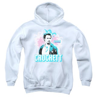 Miami Vice/Crockett Youth Pull-Over Hoodie in White