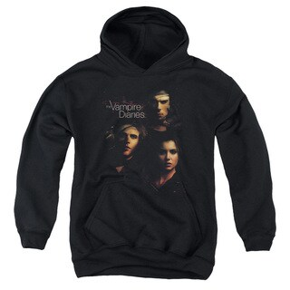 Vampire Diaries/Smokey Veil Youth Pull-Over Hoodie in Black