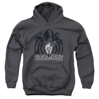 Revolution/Light Bulb Youth Pull-Over Hoodie in Charcoal