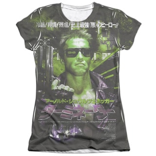 Terminator/Japan Poster Sub Short Sleeve Junior Poly/Cotton Crew in White