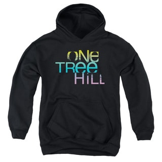 One Tree Hill/Color Blend Logo Youth Pull-Over Hoodie in Black