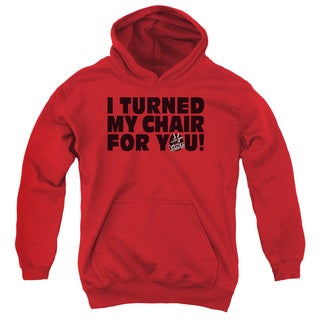 Voice/Turned My Chair Youth Pull-Over Hoodie in Red
