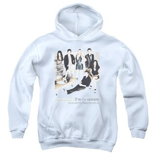 Gossip Girl/Sitting Around Youth Pull-Over Hoodie in White