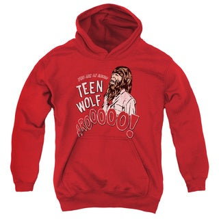 Teen Wolf/Animal Youth Pull-Over Hoodie in Red