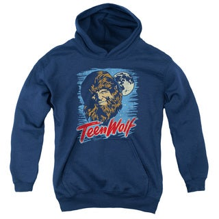 Teen Wolf/Moon Wolf Youth Pull-Over Hoodie in Navy