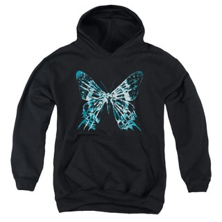 Fringe/Butterfly Glyph Youth Pull-Over Hoodie in Black