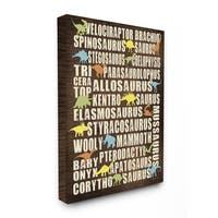 Children's Dinosaurs Typography Chart Canvas Wall Art
