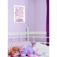 Let Her Sleep Purple Mountains' Stretched-canvas Wall Art