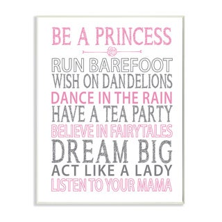 Be a Princess' Pink Stretched Canvas Wall Art