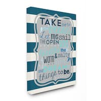 Boys' 'Take Me To The Ocean' Stretched-canvas Wall Art