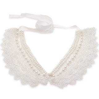 Adoriana Pearl And Lace Collar Necklace
