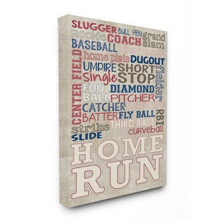 Erica Billups 'Red White/Blue Baseball' Stretched Canvas Wall Art