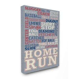 Baseball Denim-feel Stretched Canvas Wall Art