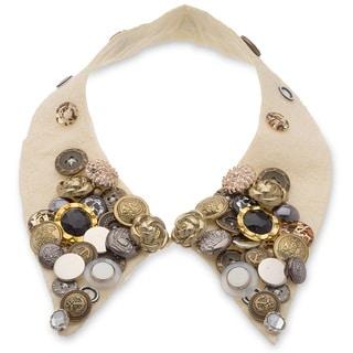 Adoriana Boho Collar Necklace - Cream
