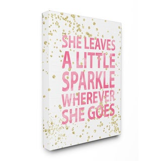 She Leaves a Little Sparkle' Stretched Canvas Wall Art