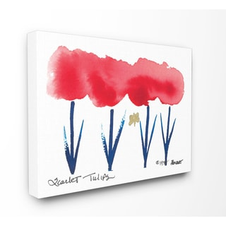 Scarlet Tulips Printed Wall Plaque Art