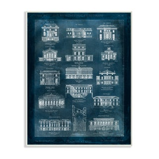 Blueprint Of Houses' Wall Plaque Art