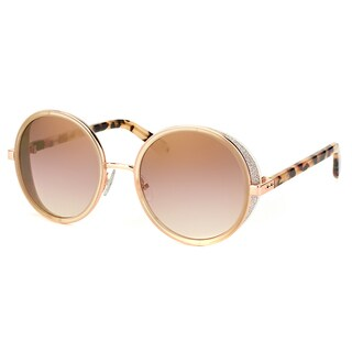 Jimmy Choo JC Andie J7A Gold And Copper Metal Round Gold Mirror Lens Sunglasses