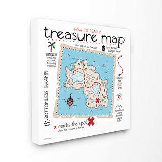 How to Read Treasure Map' Wall Plaque Art