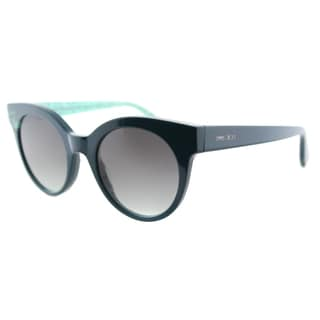 Jimmy Choo JC Mirta Q4S Petroleum Plastic Cat-Eye Grey Gradient Lens Sunglasses