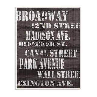 Broadway' Distressed New York City Streets Wall Art