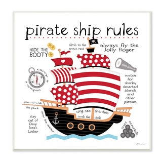 Pirate Ship Rules' Wood Wall Plaque Art