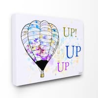 Up Up Up' Hot Air Balloons Watercolor Wall Plaque