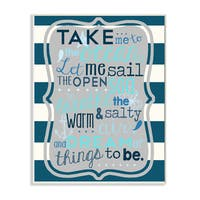 Boy's 'Take Me To The Ocean' Wall Plaque Art