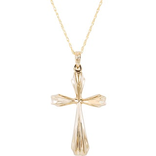 Yellow Gold 10 karat Cross Pendant Necklace