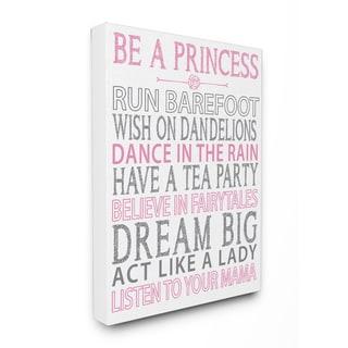 Be a Princess Pink Typog Wall Plaque Art