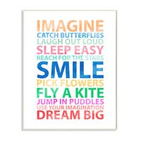 Imagine, Smile, Dream' Big Wall Plaque Art