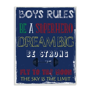 Boys Rules' Wall Plaque