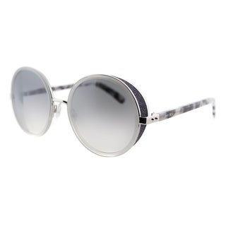 Jimmy Choo JC Andie J7L Palladium Metal Round Grey Gradient Mirror Lens Sunglasses