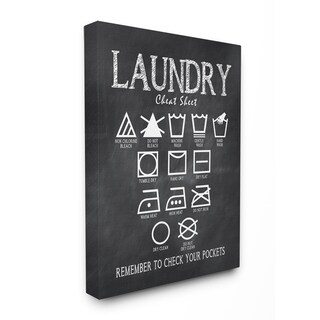 'Laundry Cheat Sheet' Unframed Stretched-canvas Wall Art