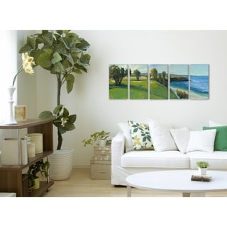 Golf Course Scene 5-piece Stretched Canvas Wall Art