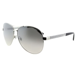 Jimmy Choo JC Lexie EJT Palladium Metal Aviator Silver Gradient Mirror Lens Sunglasses