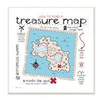 How to Read Treasure Map' Stretched Canvas Wall Art