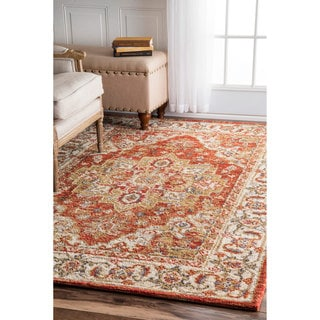 nuLOOM Traditional Persian Red Rug (7'6 x 9'6)