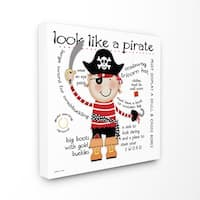 Look Like a Pirate' 17-inch x 17-inch Stretched Canvas Wall Art