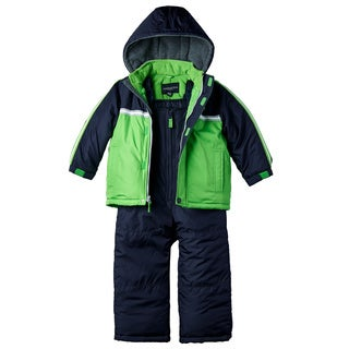 London Fog Boys' Green Snowsuit