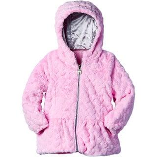 London Fog Girls' Faux Fur Coat
