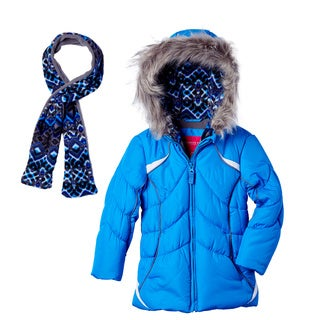 London Fog Girls' Bubble Coat