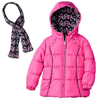 London Fog Girls' Fuchsia Bubble Coat