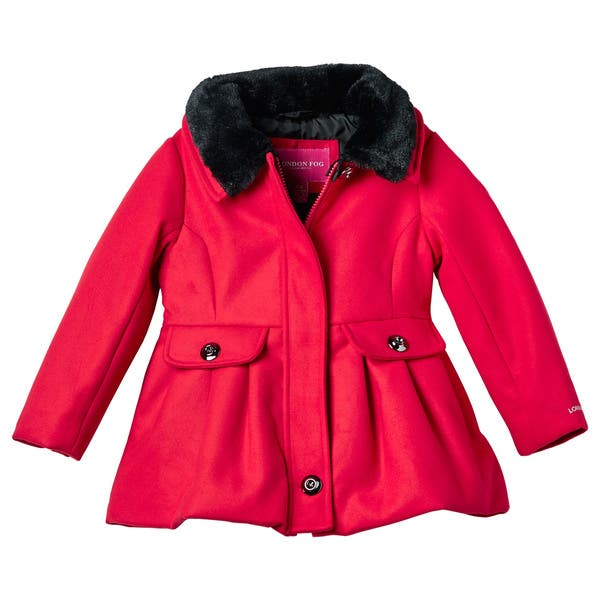 50% price search for original strong packing London Fog Toddler Girl Faux Wool Coat