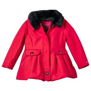 London Fog Girl Faux Wool Coat