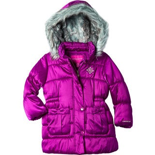 London Fog Toddler Girls' Satin Coat