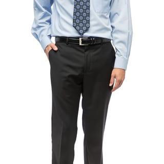 Unity Nick Men's Black Wool Flat Front Dress Pants