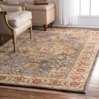 "nuLOOM Traditional Persian Grey Rug (7'6 x 9'6) - 7'6"" x 9'6"""