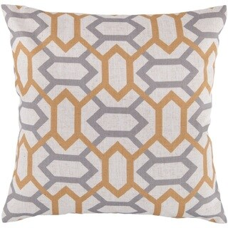 Decorative St.Mawes 22-inch Trellis Throw Pillow Cover