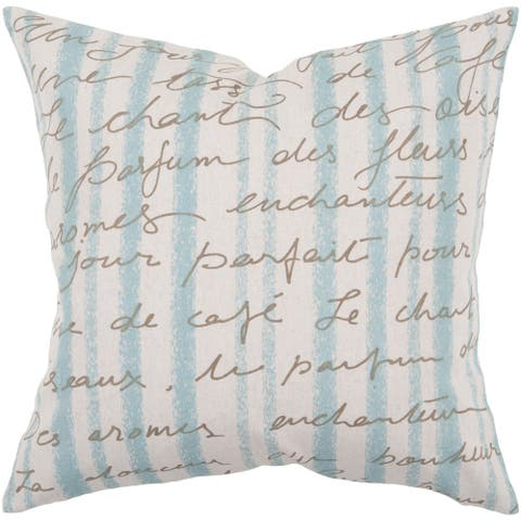 Decorative Nichole 22-inch Poly or Feather Down Filled Throw Pillow